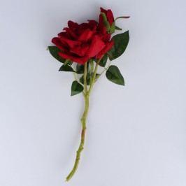 Dakls Umělá rozkvetlá růže, vínová