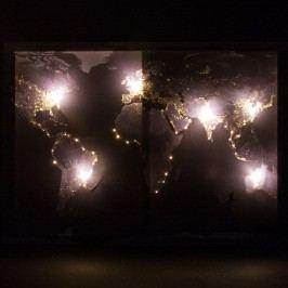 LED obraz na plátně Mapa světa, 50 x 70 cm