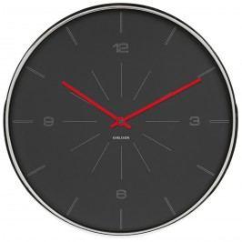 Karlsson 5644GY Designové nástěnné hodiny, 40 cm