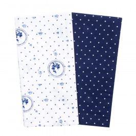 Trade Concept Kuchyňská utěrka Elegant puntík modrá, 50 x 70 cm, sada 2 ks