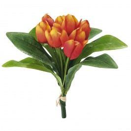 Umělá květina svazek tulipánů, oranžová