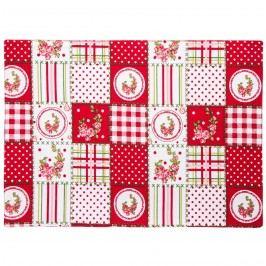 Trade Concept Prostírání Elegant patchwork červená, 33 x 45 cm