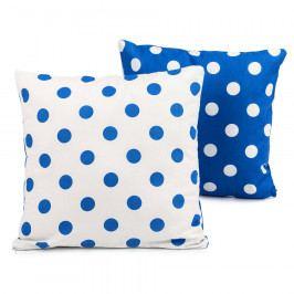 4Home Povlak na polštářek Modrý puntík, 2x 40 x 40, 40 x 40 cm