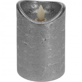 Dekorační LED svíčka stříbrná, 15 cm