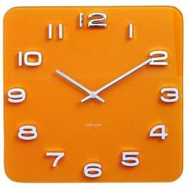 Karlsson 5641YE Designové nástěnné hodiny, 35 cm