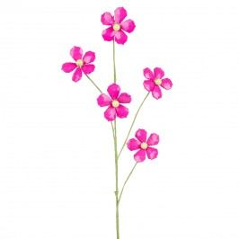 Dekorační květina z korálků růžová, 68 cm