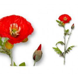 Umělá květina Vlčí mák, list a stonek