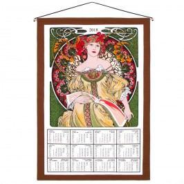 Forbyt Textilní kalendář 2018 Alfons Mucha, 45 x 65 cm