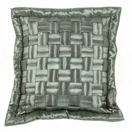 BO-MA Povlak na polštářek mřížka šedá, 45 x 45 cm,