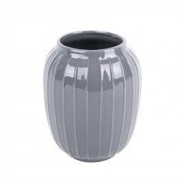 Elegantní váza Lucy šedá, 19 cm
