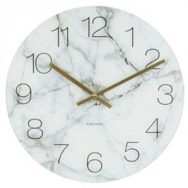 Karlsson 5618WH Designové nástěnné hodiny, 40 cm