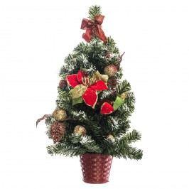 HTH Vánoční dekorace na stěnu 55 cm, červená
