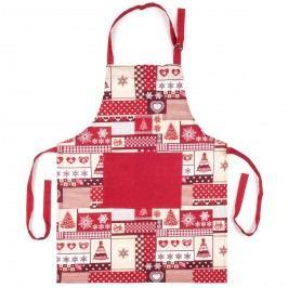 Trade Concept Kuchyňská zástěra Vánoce červená, 60 x 80 cm