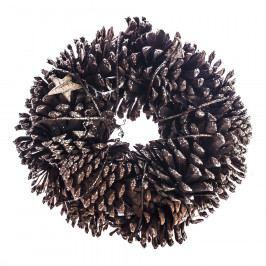 HTH Věnec se šiškami a březovými hvězdami pr. 25 cm, přírodní Vánoční dekorace