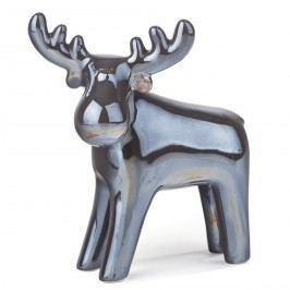 Perleťová dekorace Sob tmavě šedá, 19 cm Vánoční dekorace