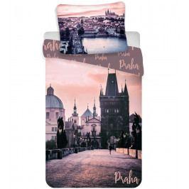 Jerry Fabrics Bavlněné povlečení Praha - Romantique, 140 x 200 cm, 70 x 90 cm