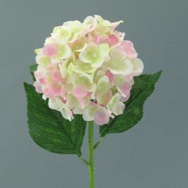 Umělá květina Hortenzie, světle růžová