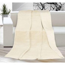 Bellatex Deka XXL / Přehoz na postel Kira světle béžová, 200 x 230 cm, 200 x 230 cm