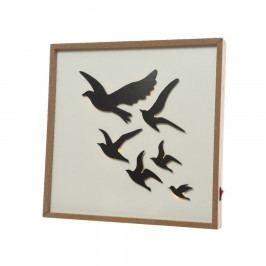 LED obraz Birds, 30 x 30 cm