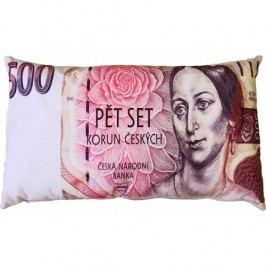 JAHU Polštářek Bankovka 500 Kč, 35 x 60 cm