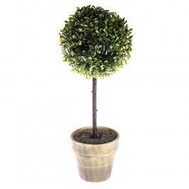 Buxusový strom v květináči šedá Umělé květiny