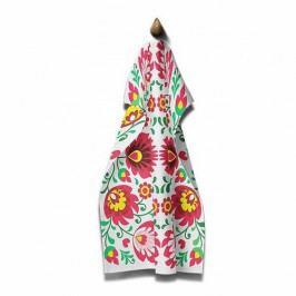 Domarex Kuchyňská utěrka Folk červená, 45 x 70 cm