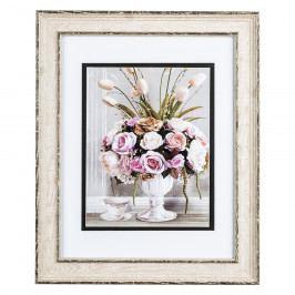 Obrázek kytice květin s šálkem s dekorem Rose