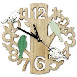Nástěnné hodiny Ptáčci, pr. 33,5 cm