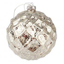 Vánoční svítící ozdoba Trivento, stříbrná