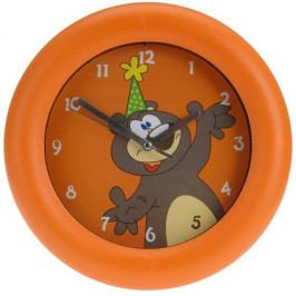 Nástěnné hodiny Teddy bear oranžová, 26 cm