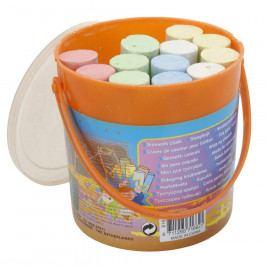 Sada kříd na chodník v kbelíčku oranžová, 15 ks