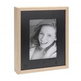 Fotorámeček Wood, černá + béžová