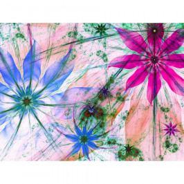 AG Art Fototapeta XXL Květinové siluety 360 x 270 cm, 4 díly
