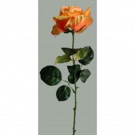 Umělá květina Růže oranžová, 60 cm
