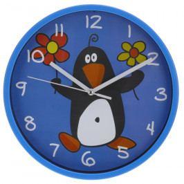 Nástěnné hodiny Pinguino modrá, 23 cm