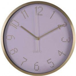 Nástěnné hodiny Puntos růžová, pr. 30 cm