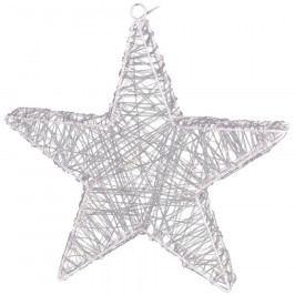 Vánoční hvězda Rapallo stříbrná, 50 LED