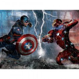 AG Art Dětská fototapeta XXL Captain America a Iron Man 360 x 270 cm, 4 díly