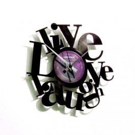 Discoclock 007 Live love laught nástěnné hodiny