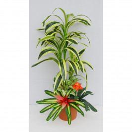 Aranžmá umělých květin Dracéna s přízdobami, 120 cm