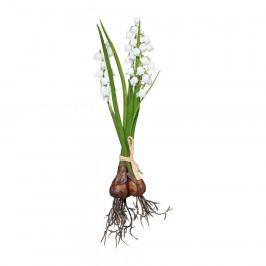 Umělá květina svazek Konvalinek s cibulí, 28 cm