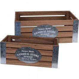 Koopman Sada dekoračních úložných boxů Farmers Market, 2 ks