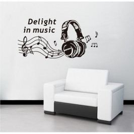 Samolepicí dekorace Delight in music