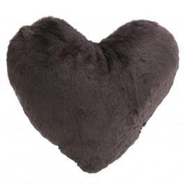 Altom Polštářek Srdce tmavě šedá, 40 x 40 cm