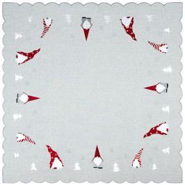 Forbyt Vánoční ubrus Trpaslíci, 85 x 85 cm