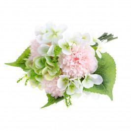 Umělá kytice Pivoňka s hortenzií světle růžová, 30 cm