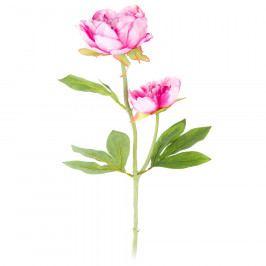 Umělá květina Pivoňka tmavě růžová, 58 cm