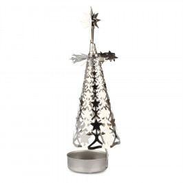 Vánoční kovový svícen Stromeček, stříbrná