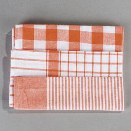 Jahu Sada kuchyňských utěrek mix oranžová, 50 x 70 cm, 3 ks