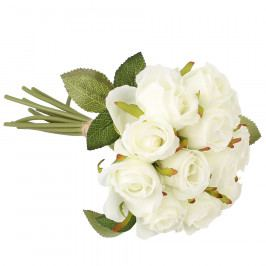 Dakls Umělá kytice růží, bílá
